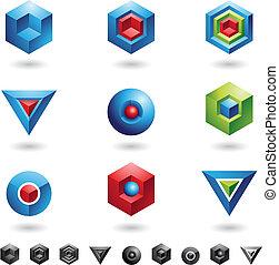 cubi, sfere, triangoli