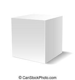 cubo bianco, 3d