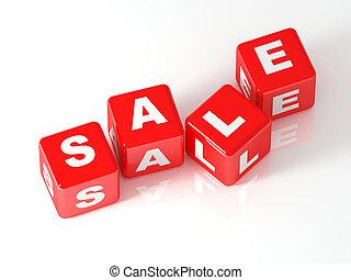 cubo, vendita, 3d