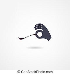 cucchiaio, icona