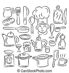 cucina, disegnare