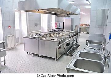 cucina, interno, professionale