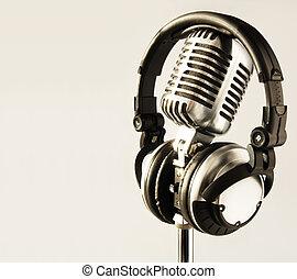 cuffie, microfono