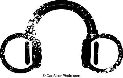 cuffie, musica, icona