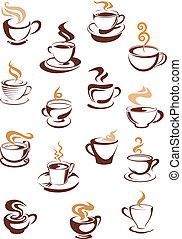 cuocere vapore caffè, campanelle, set