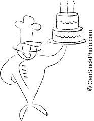 cuoco, torta