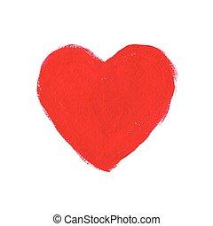 cuore, acrilico, rosso