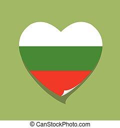 cuore, amore, bandiera, bulgaria