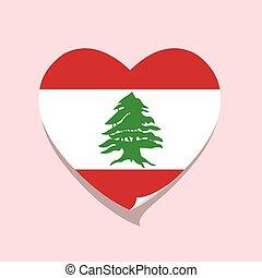 cuore, amore, bandiera libano