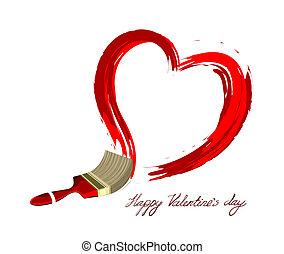 cuore, amore, illustration., creativo, vettore, disegno
