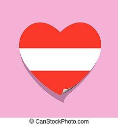 cuore, austria, amore, bandiera
