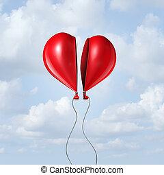 cuore, balloon, insieme