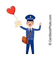 cuore, balloon, postino, palo, valentina