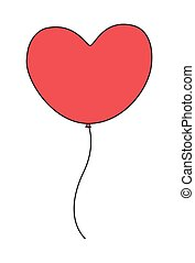 cuore, balloon