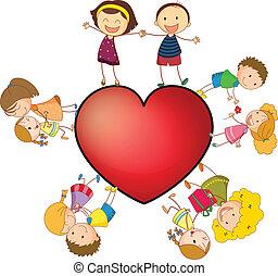 cuore, bambini