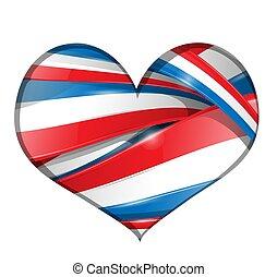 cuore, bandiera, fondo, francia