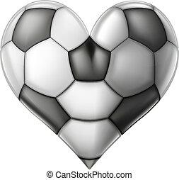 cuore, calcio, amore