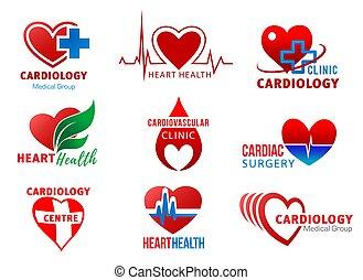 cuore, cardiologia, simboli, salute, cardiaco, chirurgia