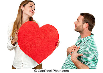 cuore, coppia, sciocchezze intorno, segno.