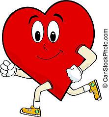 cuore, correndo
