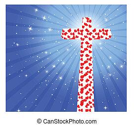 cuore, croce