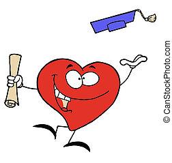 cuore, diploma, rosso