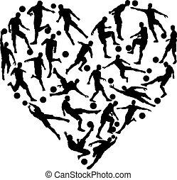 cuore, football calcio