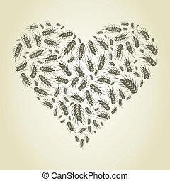cuore, frumento