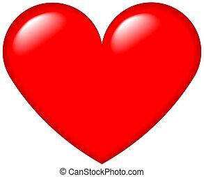 cuore, grafico, 4