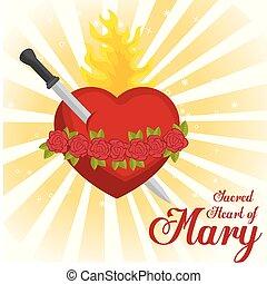 cuore, mary, sacro