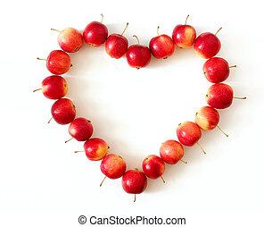 cuore, mela
