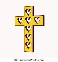 cuore, mio, croce