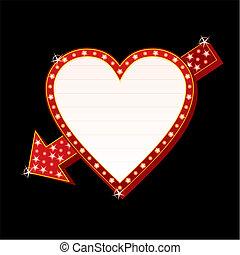 cuore, neon