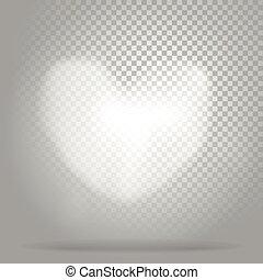 cuore, nubi bianche, trasparente, fondo