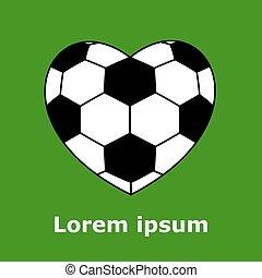 cuore, palla calcio