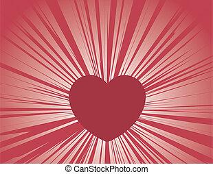 cuore, raggi