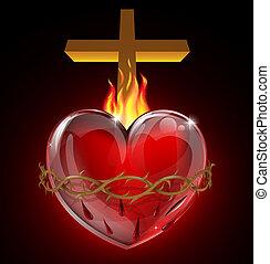 cuore sacro, illustrazione