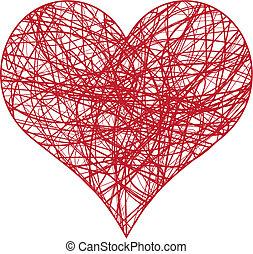 cuore, scarabocchio