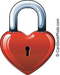 cuore, serratura