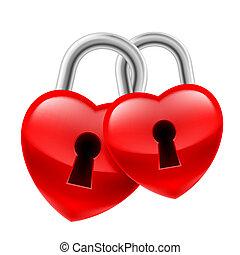 cuore, serrature
