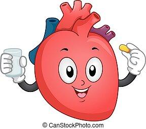 cuore, supplemento, mascotte
