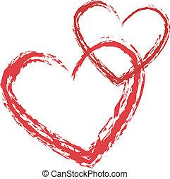 cuore, vettore, amore