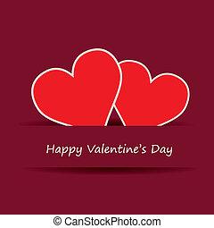 cuore, vettore, giorno, valentines
