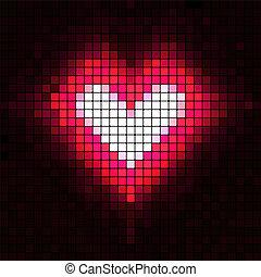 cuore, vettore, illustration., mosaic.