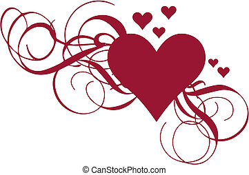 cuore, vettore, turbini