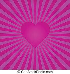cuore viola, sunburst