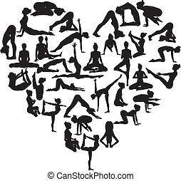 cuore, yoga