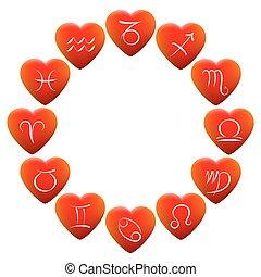 cuori, astrologia, segni
