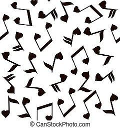 cuori, note, musicale