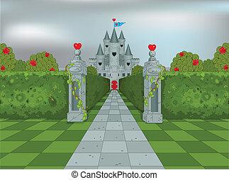 cuori, regina, palazzo